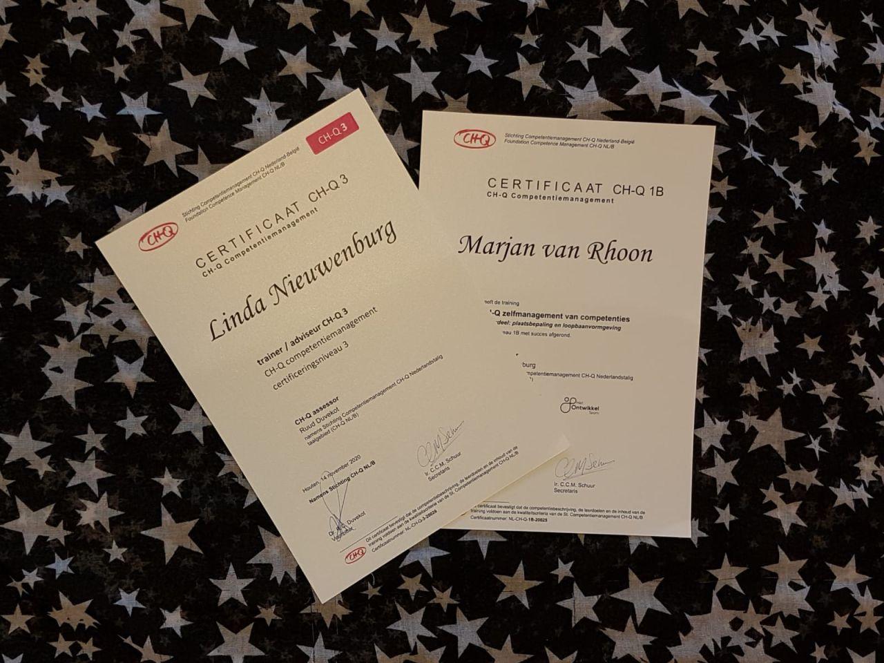CH-Q certificaten Linda en Marjan